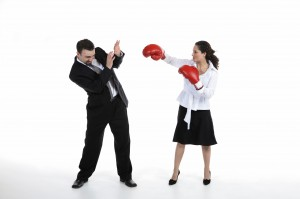 Husband and Wife Boxing