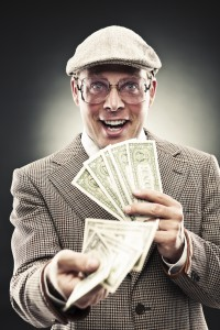 Man of Dubious Character Offering Money