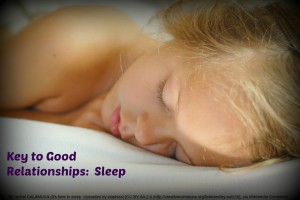 Key to Good Relationships: Sleep