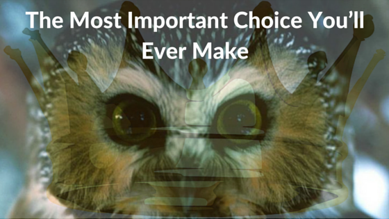 The Most Important Choice You'll Ever Make