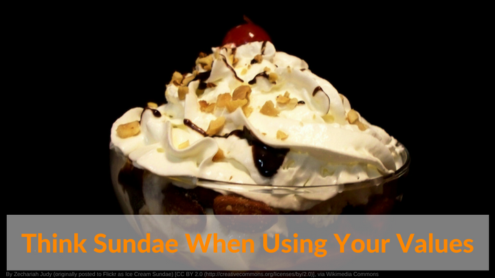 Think Sundae When Using Your Values